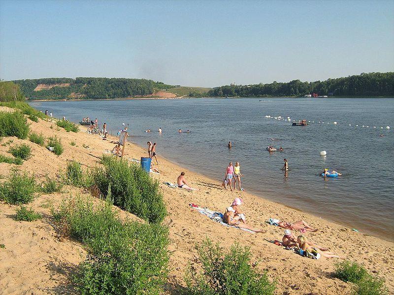 Пляж города Кстово