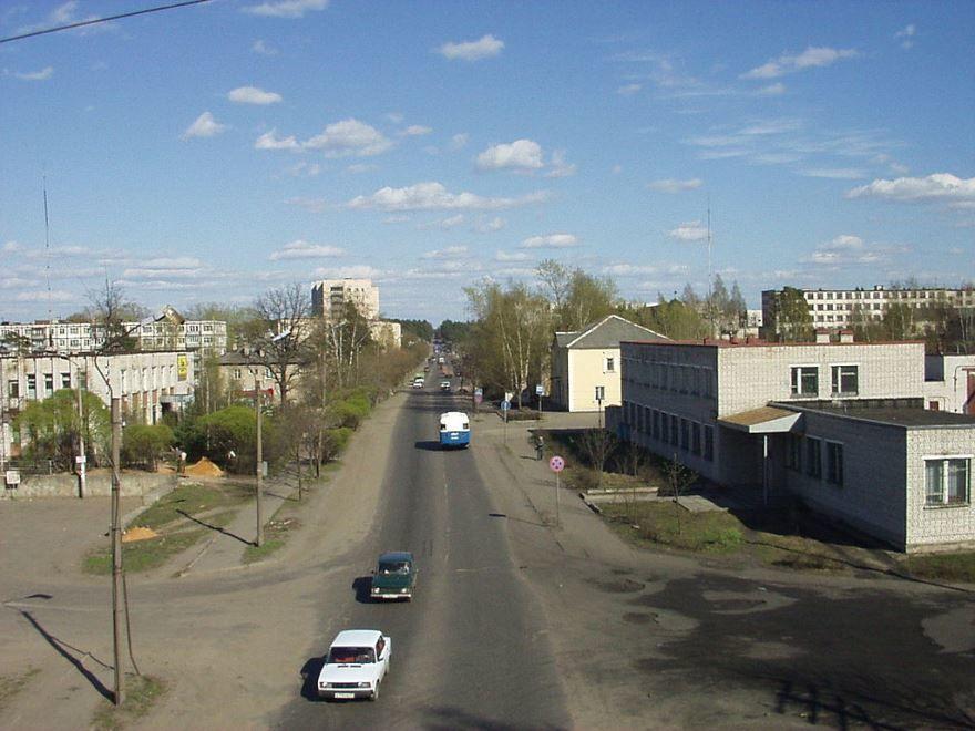Смотреть красивое фото улица города Луга
