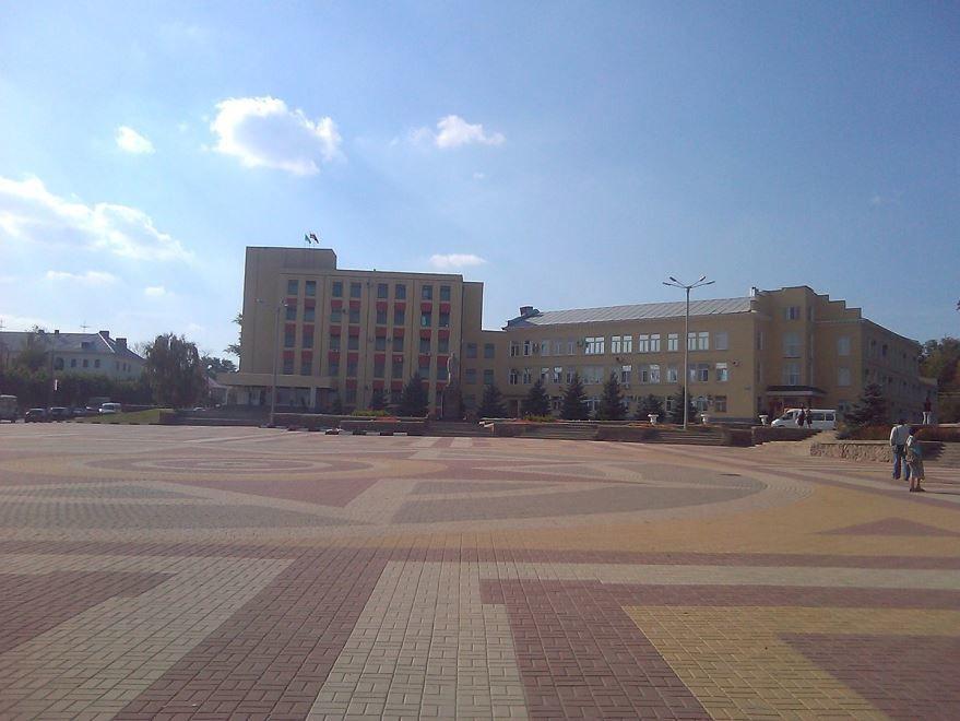 Смотреть красивое фото Площадь Ленина город Лиски
