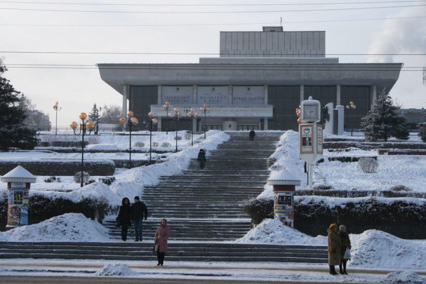 Театральная площадь город Липецк