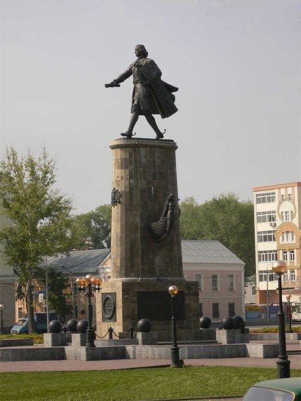 Памятник Петру 1 город Липецк