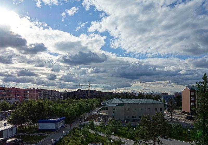 Смотреть красивое фото вид сверху города Муравленко в хорошем качестве