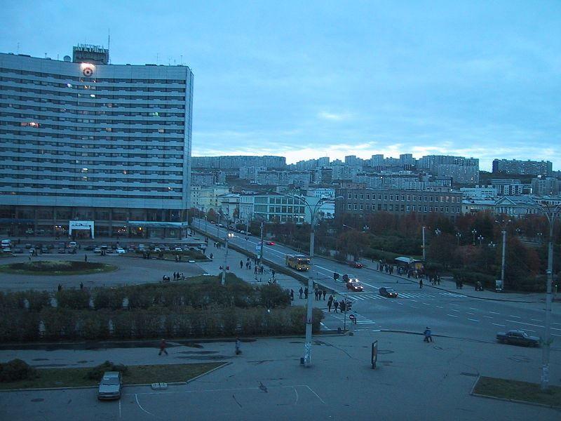 Смотреть красивое фото центр города Мурманска