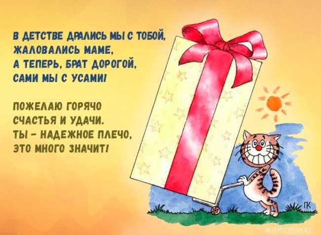 Красивые стихи с днем рождения брату от сестры
