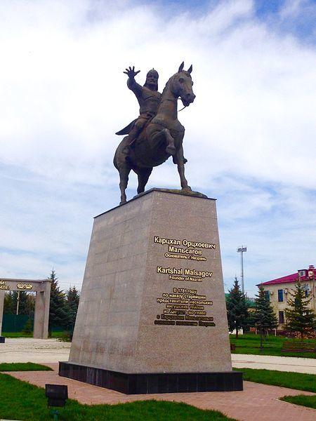 Памятник основателю Назрани  Карцхала Орцхоевичу Мальсагова