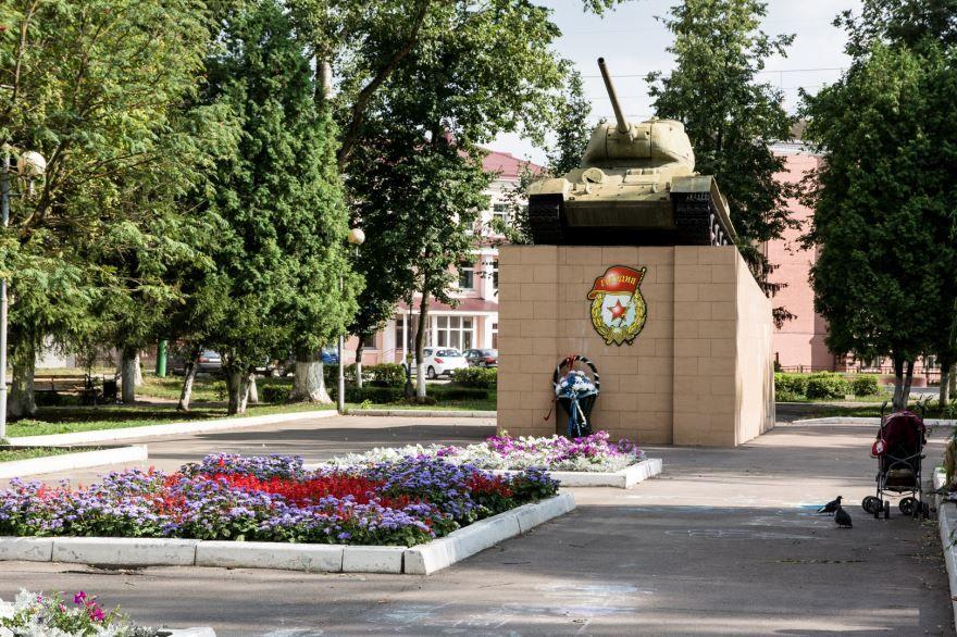 Сквер танкистов город Мценск