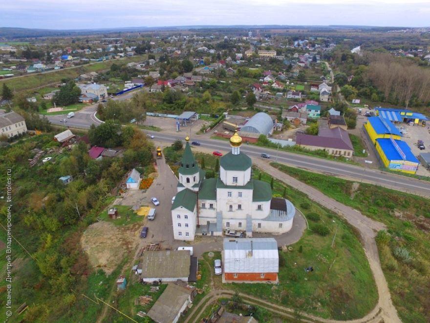 Скачать онлайн бесплатно лучшее фото города Мценск вид сверху в хорошем качестве