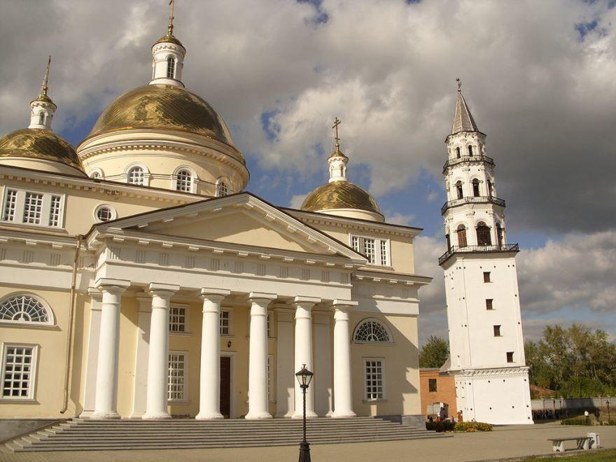 Невьянская башня и Собор вид с юга город Невьянск