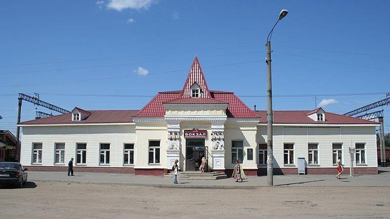 Железнодорожный вокзал город Нерехта 2019