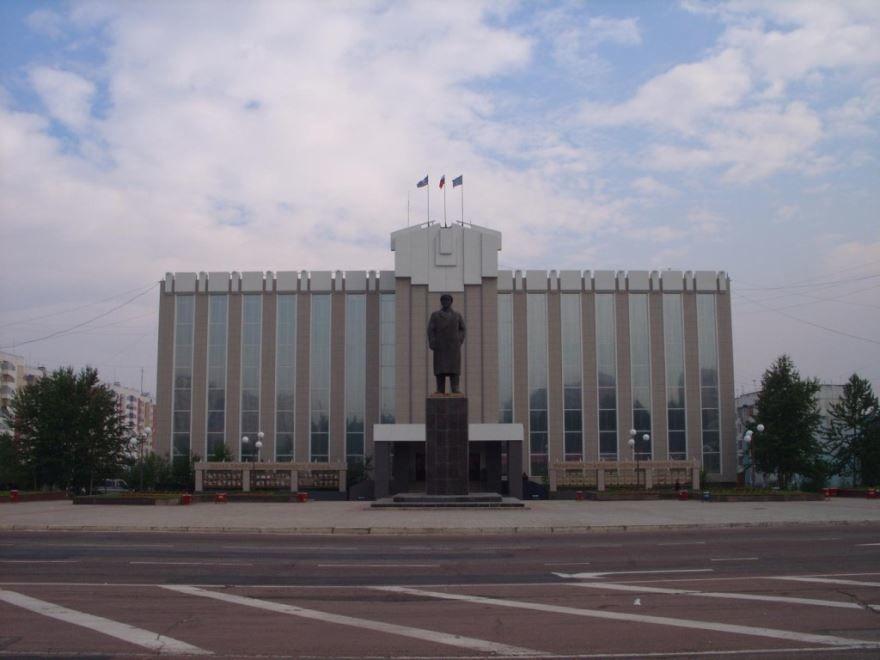 Площадь Ленина город Нерюнгри
