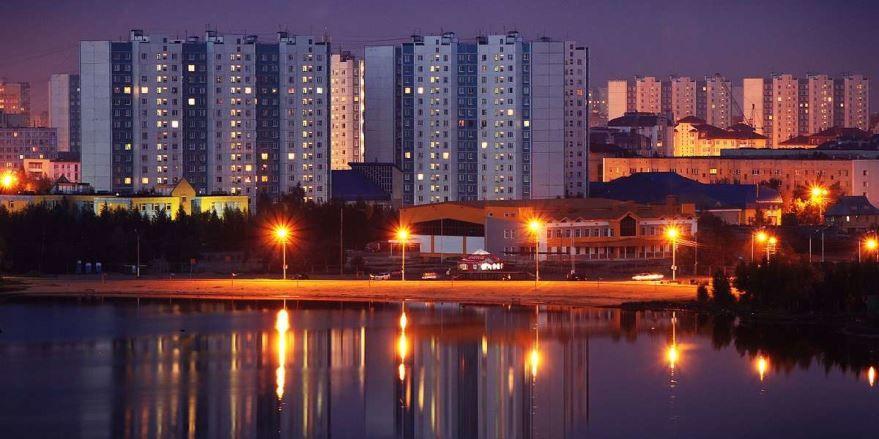 Смотреть красивое фото ночной город Нижневартовск 2019