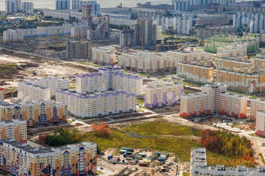 Смотреть красивое фото вид сверху города Нижневартовска бесплатно