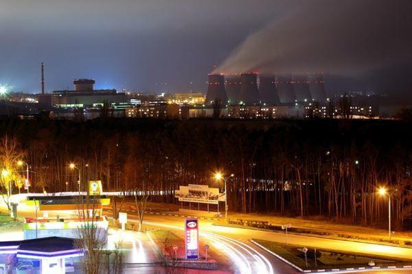 Смотреть красивое фото ночного города Нововоронеж бесплатно