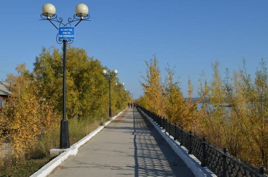 Набережная города Олекминск