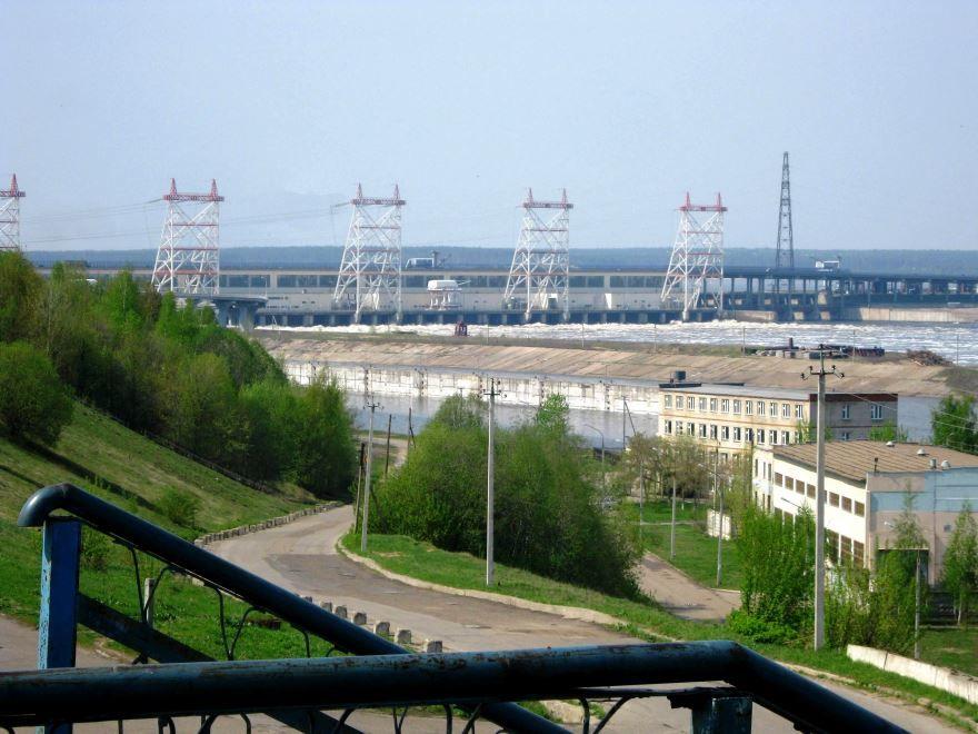 Плотина ГЭС город Новочебоксарск 2019