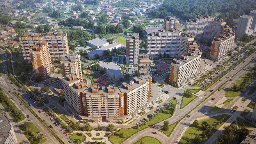 Смотреть лучшее фото города Обнинска вид сверху