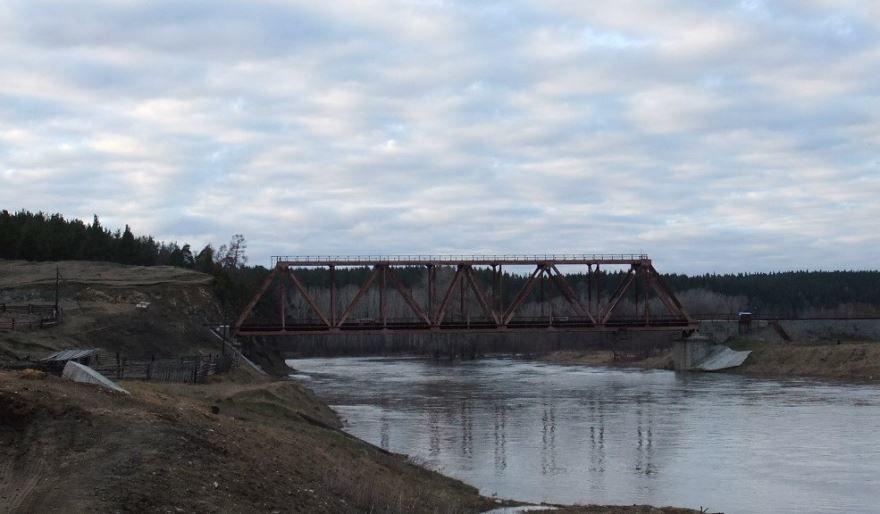 Мост через реку Уфу город Нязепетровск 2019