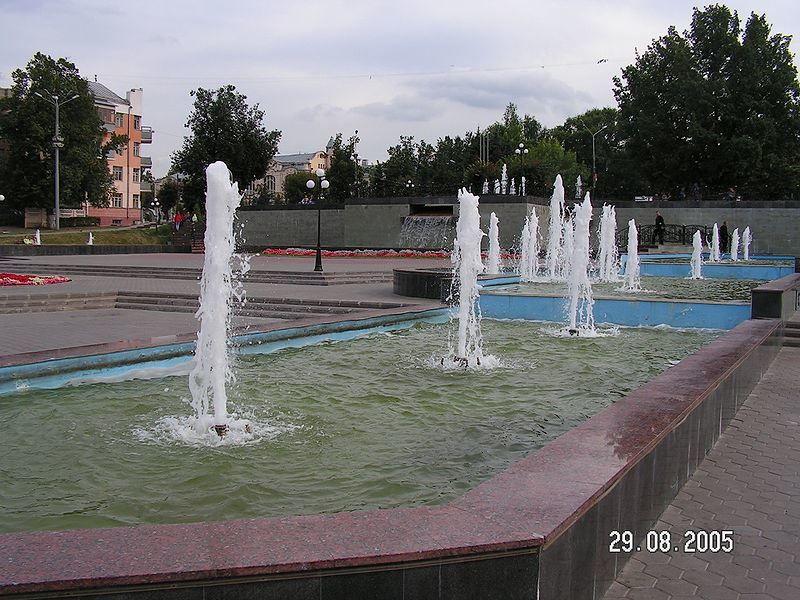 Центральная площадь фонтанов город Ногинск 2019