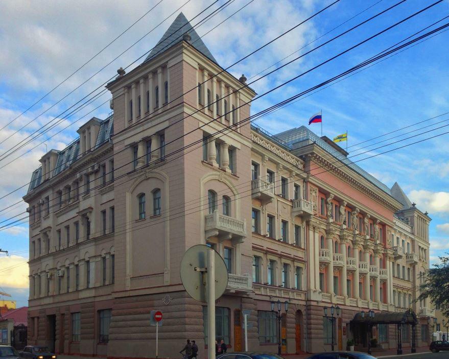 Смотреть красивое фото здание с красивой архитектурой город Оренбург