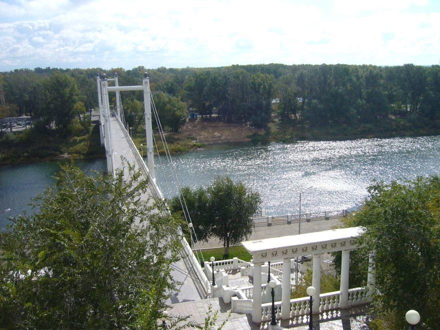 Набережная реки Урал город Оренбург