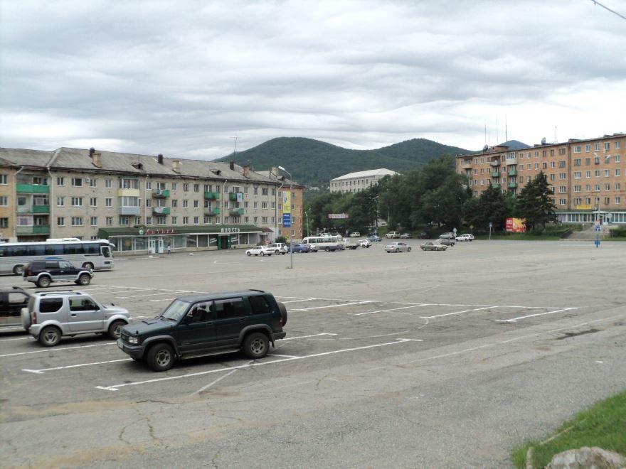 Центральная площадь города Партизанска