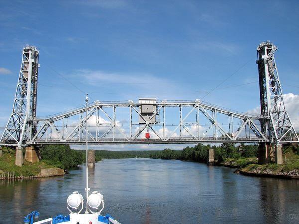 Смотреть красивое фото мост через реку город Подпорожье