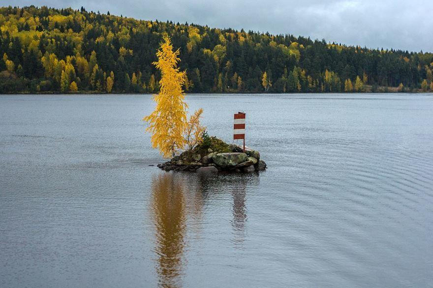 Островок на реке Свирь близ города Подпорожье