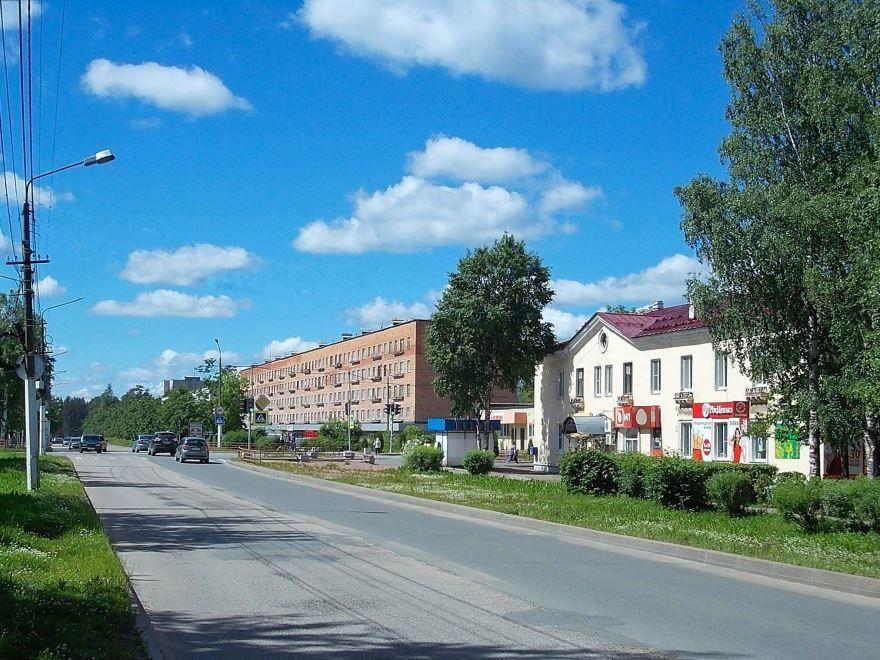 Скачать онлайн бесплатно лучшее фото улица Ленина города Подпорожье в хорошем качестве