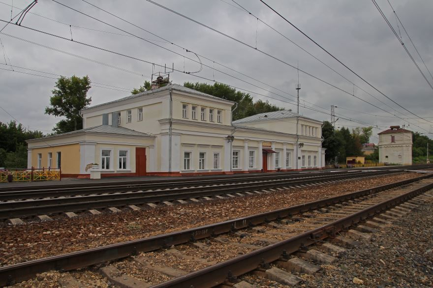Железнодорожный вокзал город Плавск 2019