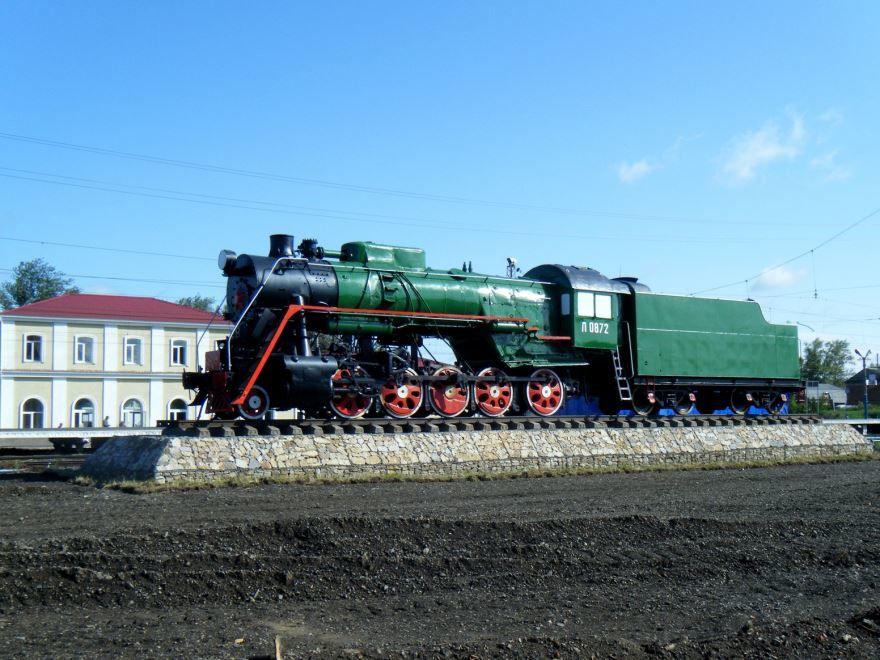 Памятник Паравоз на станции Петушки