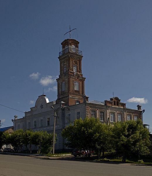 Пожарное депо и каланча город Сарапул
