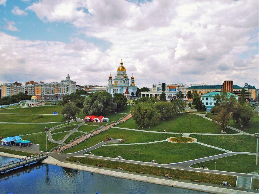 Смотреть красивый вид города Саранск в хорошем качестве