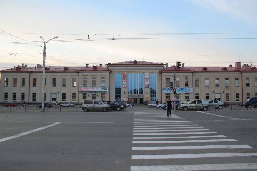 Железнодорожный вокзал город Рязань 2019