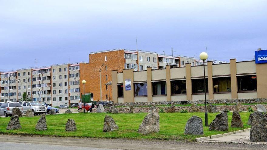 Каменный сквер город Приозерск