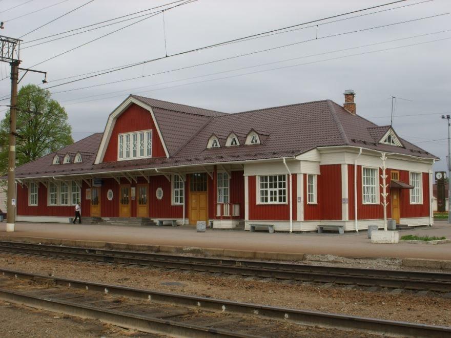 Железнодорожный вокзал город Приозерск 2019