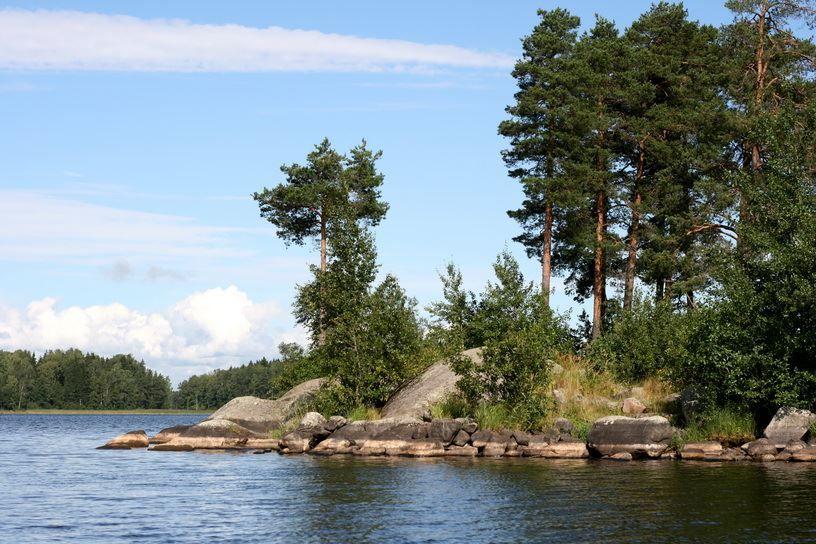 Смотреть красивое фото озеро Вуокса город Приозерск