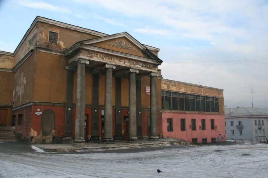 Смотреть красивое фото здание кинотеатра город Прокопьевск