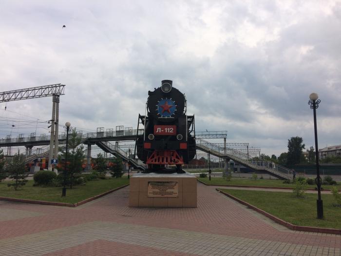 Смотреть лучшее фото памятник паровозу город Прокопьевск