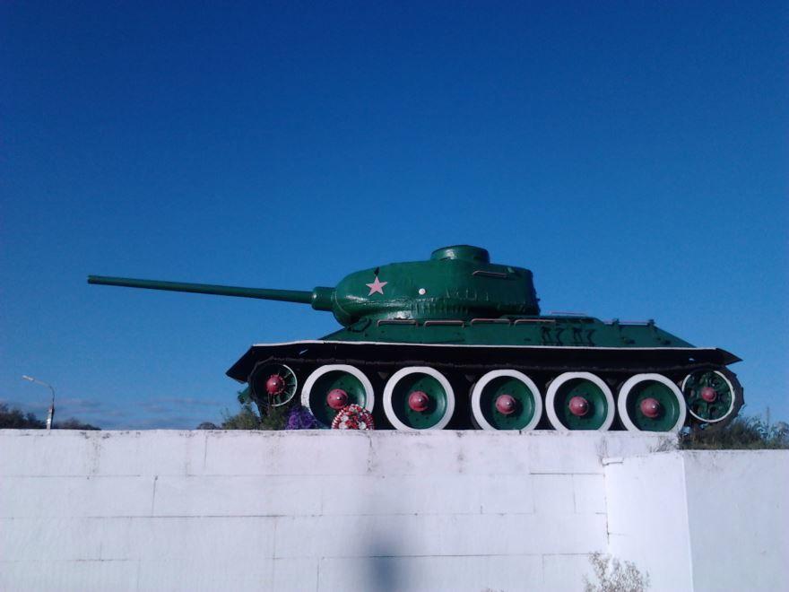 Памятник танк достопримечательность города Протвино