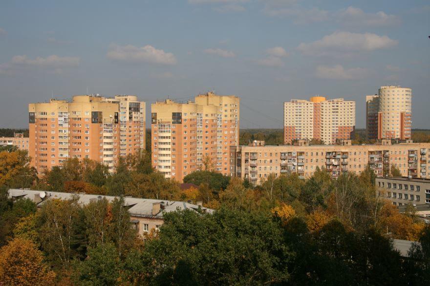 Скачать онлайн бесплатно лучшее фото панорама города Пушкино в хорошем качестве