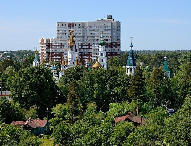 Смотреть красивый вид города Пушкино в хорошем качестве