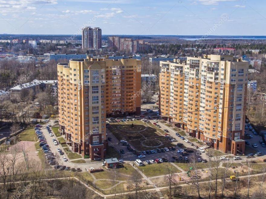 Скачать онлайн бесплатно лучшее фото вид сверху города Пушкино в хорошем качестве