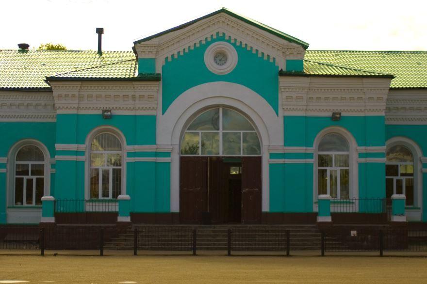 Железнодорожный вокзал город Рославль 2019
