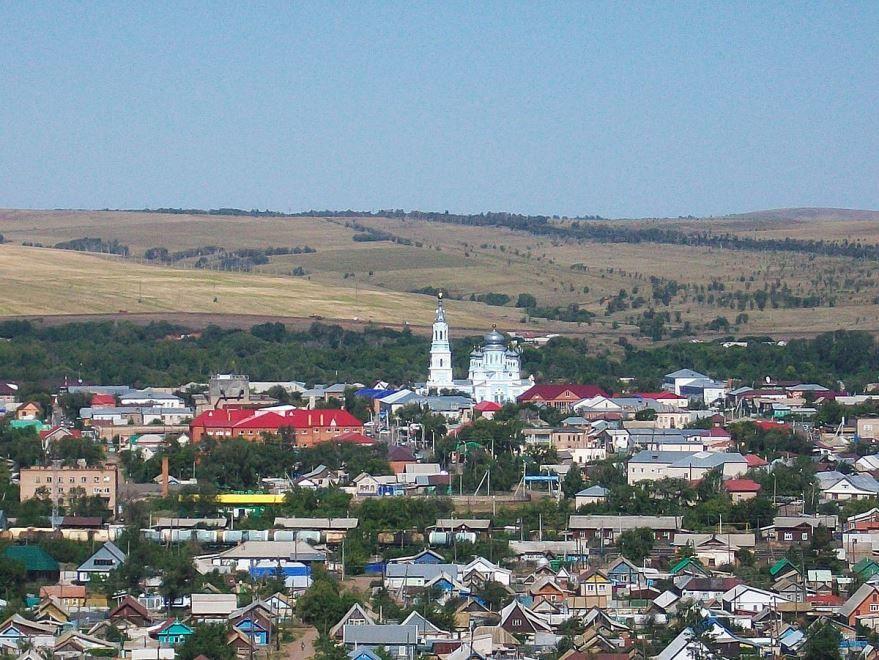 Смотреть красивое фото вид на Храм Михаила Архангела город Сорочинск
