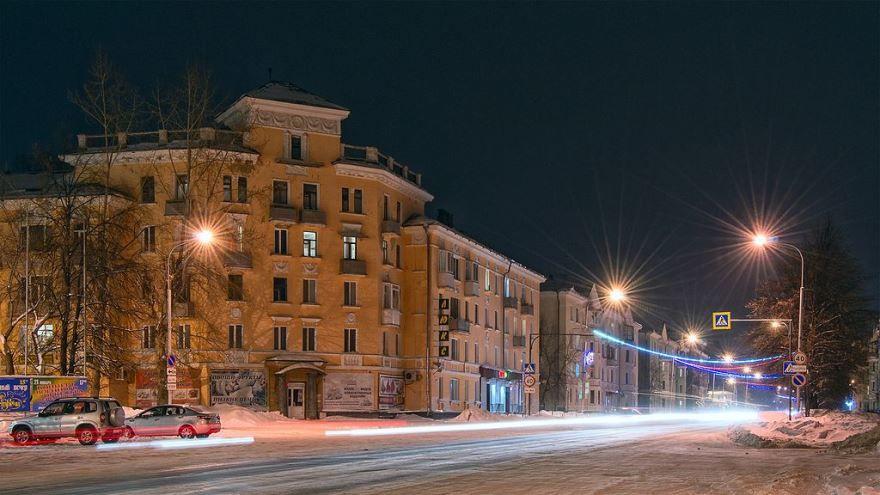 Смотреть красивое фото ночной город Северск
