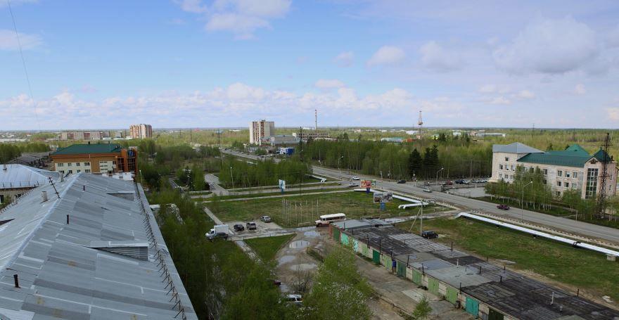 Скачать онлайн бесплатно лучшее фото города вид сверху Северск в хорошем качестве