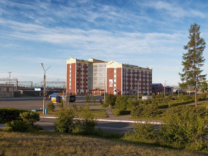 Скачать онлайн бесплатно лучшее фото красивый вид города Северобайкальска в хорошем качестве