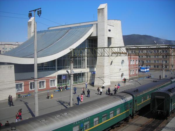 Железнодорожный вокзал город Северобайкальск 2019