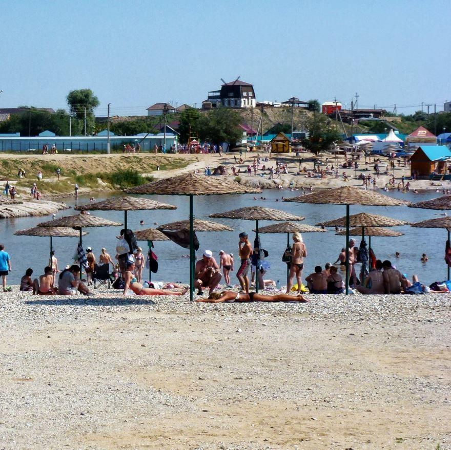 Малое городское озеро город Соль Илецк