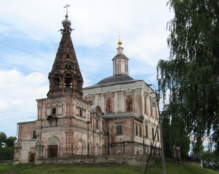 Спасо-Обыденная церковь с колокольней 1697 года город Сольвычегодск